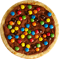 Nutella Pizza met M&M's