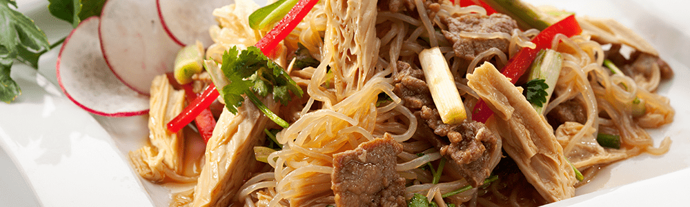 Chinese bami or mihoen dishes