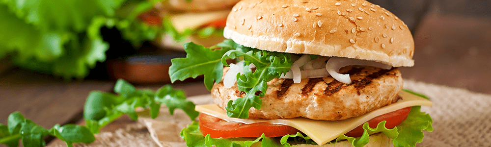 Crispy chicken burgers