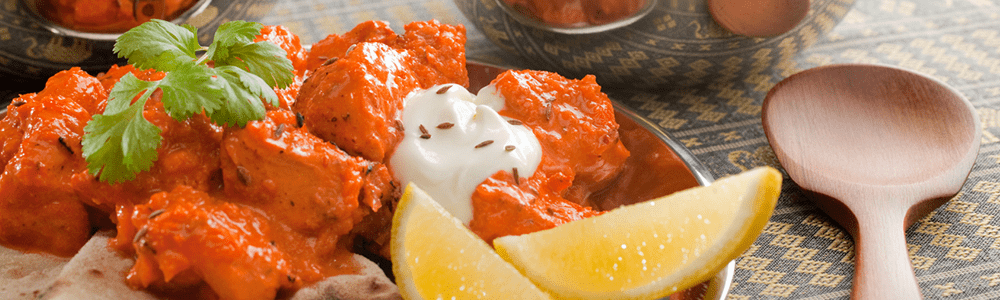 Medium hot tandoori curries
