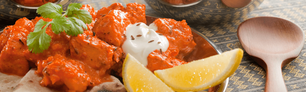 Mughlai chicken curry gerechten